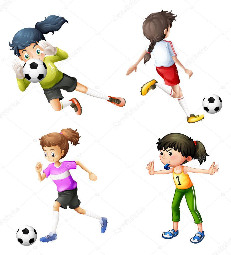 Fotos de garotas jogando futebol-9370